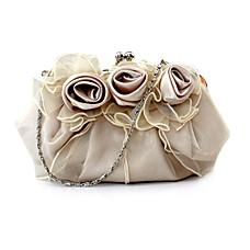 vente en gros satin superbe sac à main shell tulle soir bourse d'embrayage (0438-146h44)