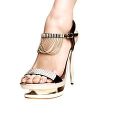 vente en gros similicuir supérieure sandales à talons aiguilles avec des chaussures partie rhinestone soir / (0987-l3375) plus de couleurs disponibles