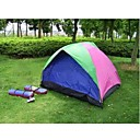 Camping Tent 2 Persons + Aluminum Foil Dampproof Mat+Tent Light LED(HYYP232)