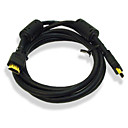 6-foot gold-plated HDMI-kabel man op man 28AWG met ferrietkern (mono001)