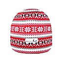 SAMII Jacquard Argyle Stripe Knit Beanie Skull Cap Hat-Red(0015) (Start From 20 Units) Free Shipping
