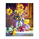 Handmade Flowers Art Oil Painting on Canvas High quality GDH-157 (Start From 20 Units) Free Shipping