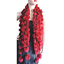 mooie konijn haar boa shawl sjaal bal pom poms wrap HSC-002 (vanaf 50 stuks) gratis verzending