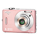 AIGO V890 Digital Camera with 5x Optical Zoom/Pink (IG032)