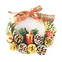 Decorated Grapevine Christmas Wreath, 19CM (217041) (Start From 30 Units)-Free Shipping
