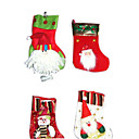 1-Piece Plush Decorated Christmas Stocking , 20CM (SDWZ005) (Start From 200 Units)Free Shipping