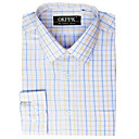 Non-Iron Cotton Fancy Dress Shirt- Spread Collar 100% Cotton (QRJ014) -Free Shipping by Air Mail