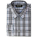 Top Grade Men's Long Sleeve Twill Wrinkle Dress Shirt (QRJ012-3) -Free Shipping by Air Mail