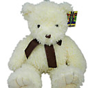 1 PC Plush Bear With Ribbon --Beige(MR039)