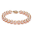 Pink 7.5-8 mm AAA Freshwater Pearl Bracelet (DSZZ086) (DSZZ086) (Start From 5 Units) -Free Shipping