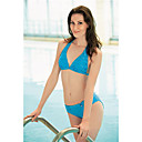 Sexy Blue Two Piece Halter Bikini Swimwear (YZ8537) (Start From 12 Units) Free Shipping
