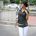 Jersey-knit Tunic-length Tee Gray (XJQZ001) (Start From 10 Units) Free Shipping