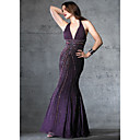 Column Halter Floor-length Chiffon Prom / Evening Dress (HSX251) (Start From 3 Units) Free Shipping