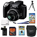 Nikon Coolpix P80 10.7MP Digital Camera + 2GB SD Card + Extra Battery + 6 Bonus