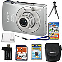 Canon PowerShot SD750/IXUS 75 Silver 7.1MP Digital Camera + 2GB SD + Extra Battery + 6Bonus (SZW449)