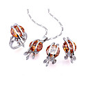 Fashion Cubic Zirconia Sets (Pendant, Ring and Earring) - CZ Jewelry Sets SYX-0243 Champagne SZY113