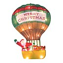 Double Faced Mesh Silhouette Santa on Ballute Christmas Light (SDQ331)