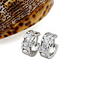 Charming Platinum Cubic Zirconia Stud Earring - CZ Earring 80828-17 (SZY426)