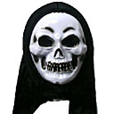 Scary Latex Death Halloween Mask with Hair For Adult (SZWS028)