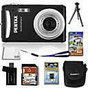 Pentax Optio V20 8.5MP Digital Camera with 3.0-inch LCD + 4GB SD + Battery + 6 Bonus (SZW625)