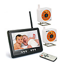 7-Inch Baby Monitor with 2x Night Vision Cartoon Camera