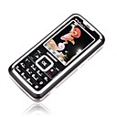 LESON S568  Dual Card Dual Screen Game Style TV Side Flip Phone Silver (Not For U.S/Canada)
