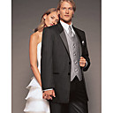 Two Button Single Breasted Satin Trim Notch Lapel Tuxedo Suit / Black Tie / Dinner Jacket
