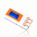 4gb mini mp3 players com alto-falante laranja e branco (szm191)