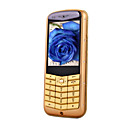 TT-V2 Dual Card Quad band TV Function Cell Phone Gold&Black  (SZR692)