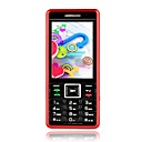Y600 Dual Card Quad Band Dual Camera Ultra-thin TV Function Cell Phone Black&Red(SZRW284)