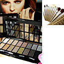 Free Professional Cosmetic Brush Set + 16 Colors Eyeshadow Palette 3#