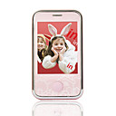 miniconnector 168-3g dual card dual bluetooth touch screen mobiele telefoon roze
