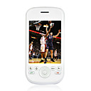 TIGER G2 Dual Card Quad Band TV Function Flat Touch Screen Cell Phone White