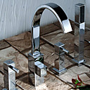 4-pc Chrome Widespread Bathtub Faucet (LD-0253)