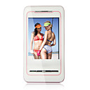 H8 Quad Band Dual Card Dual Standby Ultra Thin Flat Touch Screen Cell Phone White and Red +2GB TF Card