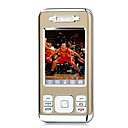 New 768 Dual Card Quad Band Ultra Thin Flat Touch Screen Cell Phone Brown (2GB TF Card)