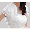 Short Sleeves Faux Fur Bridal Wedding Jacket / Wrap (WHPJ0021-2034)