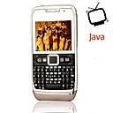 E71i Style JAVA Quad Band Dual Card Bluetooth Dual Camera Ultra Thin FM TV QWERTY Keypad Cell Phone Gray (2GB TF Card)