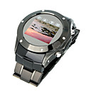 W968 Qaud Band Metal Cover Touch Screen FM Watch Cell Phone Black (2GB TF Card)