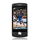 D9000 Dual Card Quad Band Dual Camera TV WiFi JAVA Flat Touch Screen Cell Phone Black (2GB TF Card)