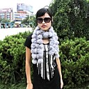 Sleeveless Genuine Rabbit Fur/ Fox Fur Fringed Fur Scarf (PZX0006)