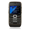 E71 Style Quad Band Ultra Thin Metal Cover QWERTY Keypad Bar Cell Phone Black (2GB TF Card)