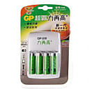 GP ReCyko+ 2000mAh 1.2V Ni-MH Rechargeable AA Batteries (4-Pack) with AC Charger