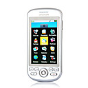 G2 Dual Card Bluetooth FM Touch Screen Cell Phone Silver and White (2GB TF Card)