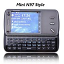 mini N97  double clavier qwerty style carte Bluetooth slide tlphone  cran tactile FM cellule grise (carte 2GB TF) (sz05150767)