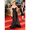 Jenna Fischer Trumpet/ Mermaid Sweetheart Sweep/ Brush Train Satin  Emmy/ Evening Dress (FSH0451)