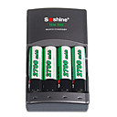 SoShine SC-U1 Ni-Mh Charger with 2700mAh Batteries Kit