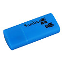 Sundike Mini USB 2.0 SDHC TF/MicroSD Card Reader (Blue)