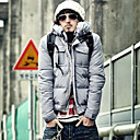 09 New Arrival Men's Grey Down Quilted Wadded Winter Jacket Coat (LGT1110-2)