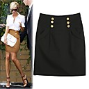 High Waist Buttoned Skirt Women's Skirt (3303AL011-0677)